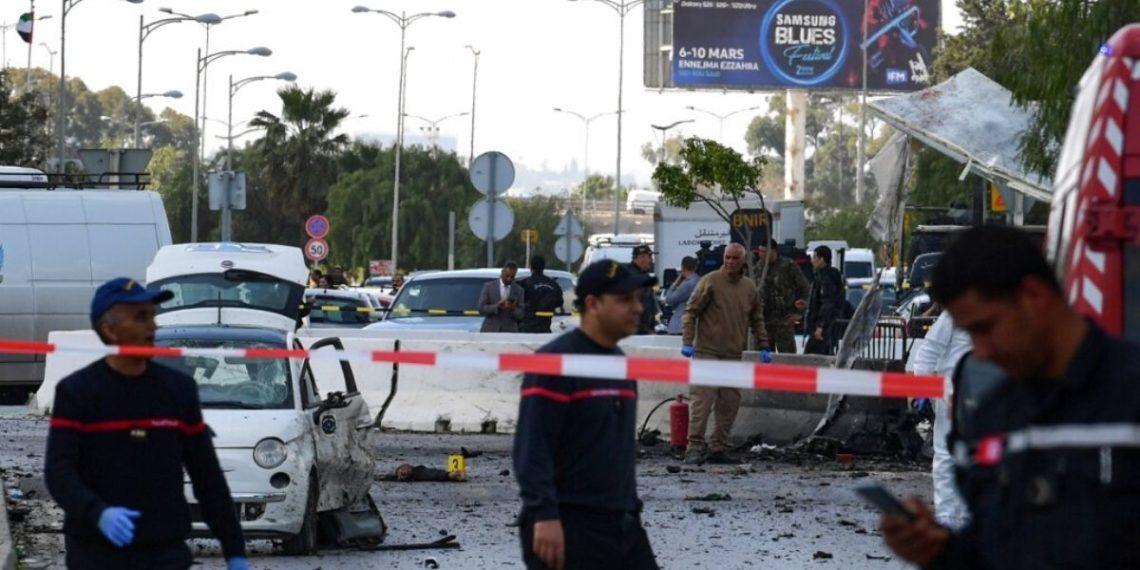 Atentado suicida contra embajada de EE.UU. en Túnez deja al menos seis heridos. Foto: AFP