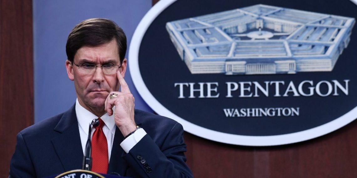 El secretario de Defensa de EEUU, Mark Esper. Foto: AP