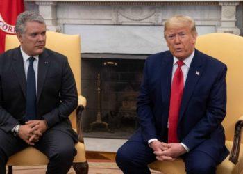 El presidente de Colombia, Iván Duque, y el presidente de EE.UU. Donald Trump. Foto: AFP