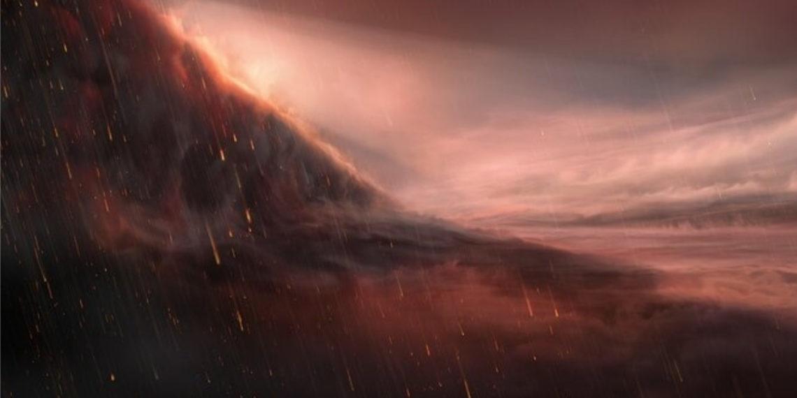 Descubren exoplaneta extremadamente ultracaliente en el que llueve hierro. Foto: ESO/M. Kornmesser