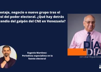 Eugenio Martínez sobre incendio de CNE: «aquí hay un negocio de por medio»