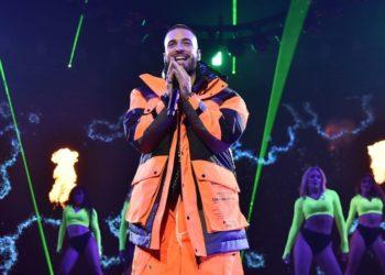 Maluma durante concierto en el Madison Square Garden de NY. Foto: AFP