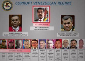 La red  de corrupción según la Fiscalía de EEUU