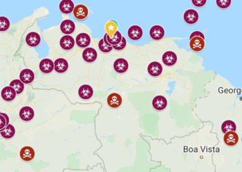 Mapa interactivo coronavirus Venezuela