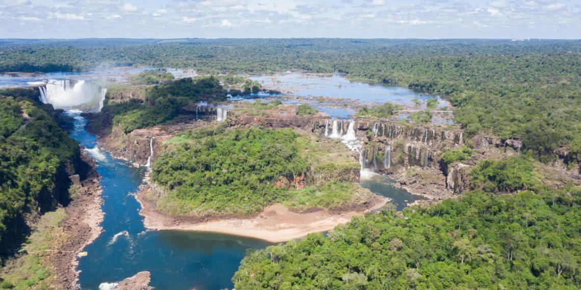 Registran histórica sequía en las Cataratas de Iguazú. Foto: Parque Nacional Iguazú
