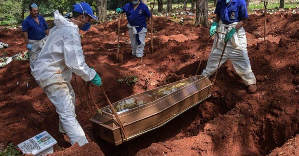 Coronavirus cementerio Brasil américa Latina