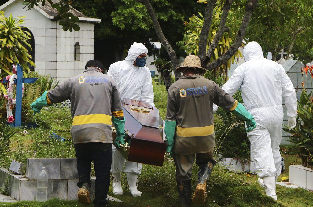 muertos de coronavirus en brasil