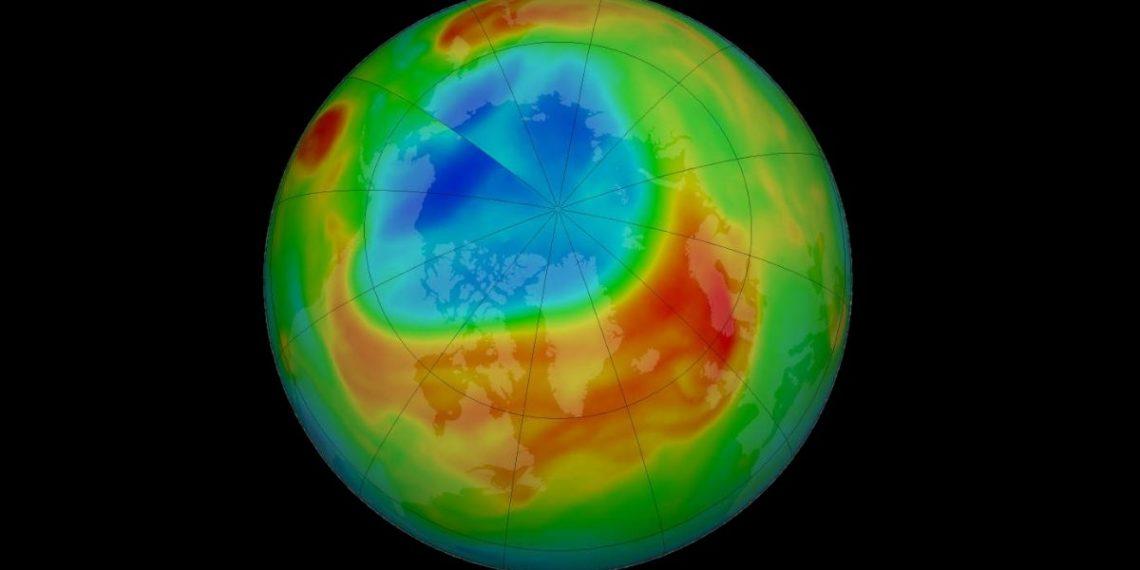 ozono sobre el Ártico