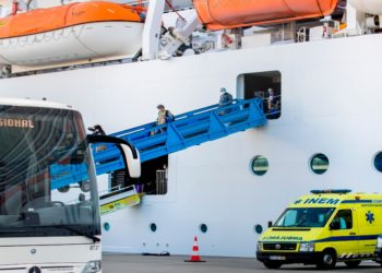Imagen referencial de archivo de un buque portugués.   EFE.