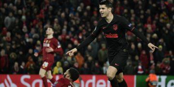Álvaro Morata marcó un gol clave en Anfield