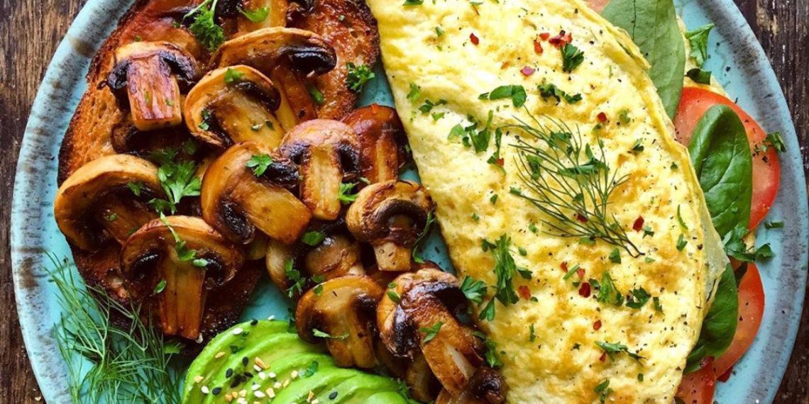 Comidas con proteína: tortillas con espinacas