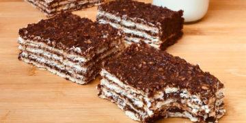 Turrón de avena y chocolate