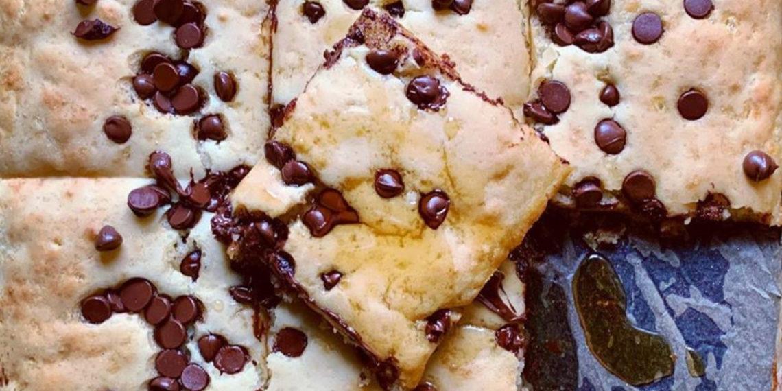 Para el desayuno o la merienda: Ponqué o panqueques con chocolate