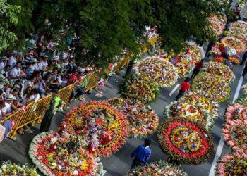 Feria de las flores en Colombia pese al COVID-19