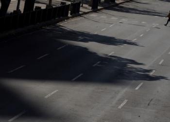 Calles de Caracas quedan vacías en medio de la cuarentena. Foto:EFE