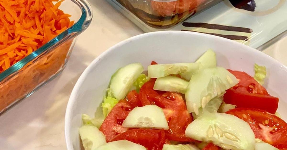 Ingredientes para la ensalada de zanahoria y remolacha