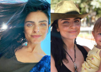 Aislinn Derbez es criticada por foto en bikini