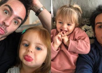 Mauricio Ochmann y su hija