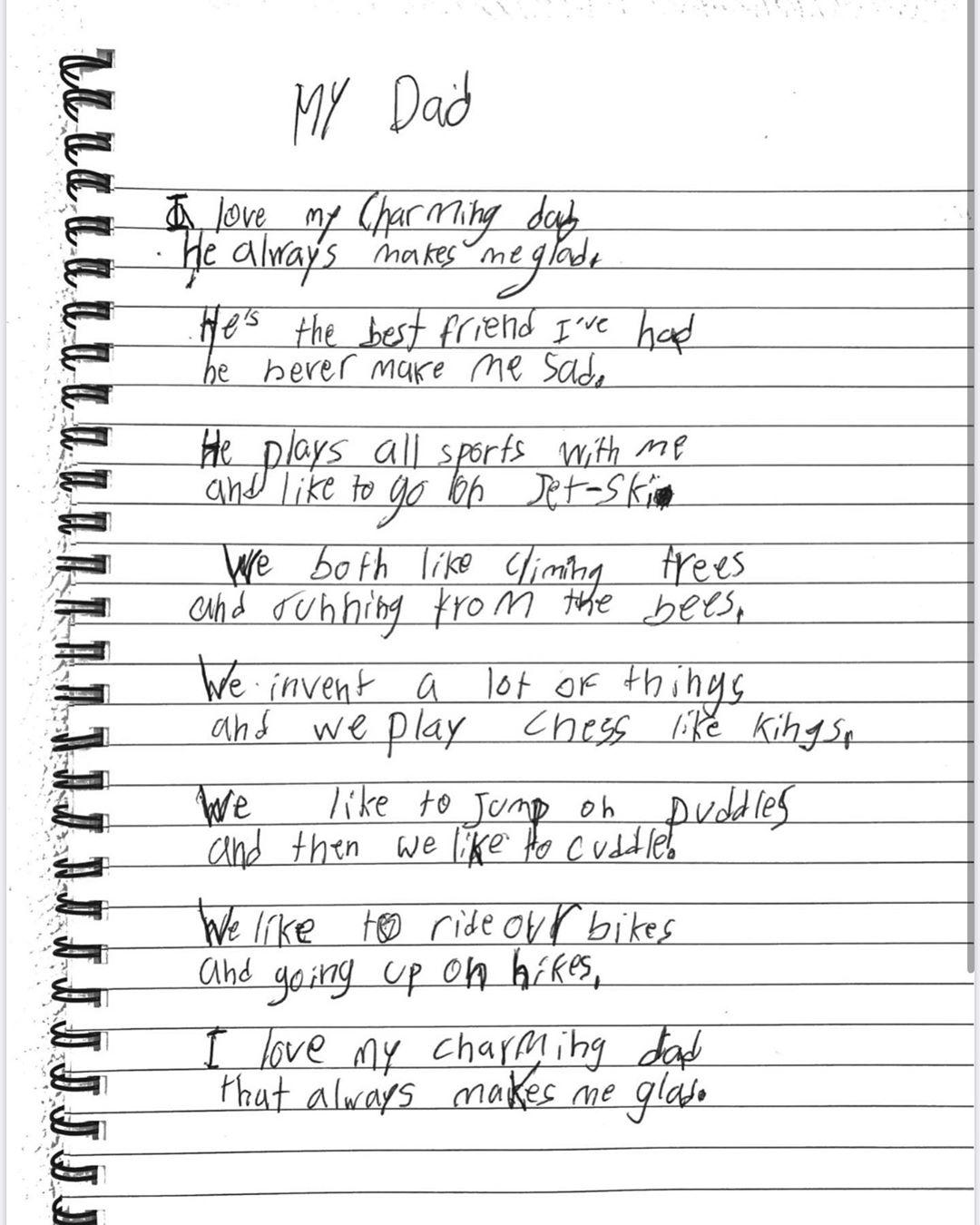 Poema del hijo mayor de Shakira