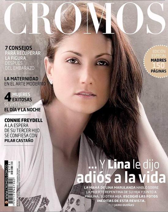 Lina Marulanda en revista Cromos