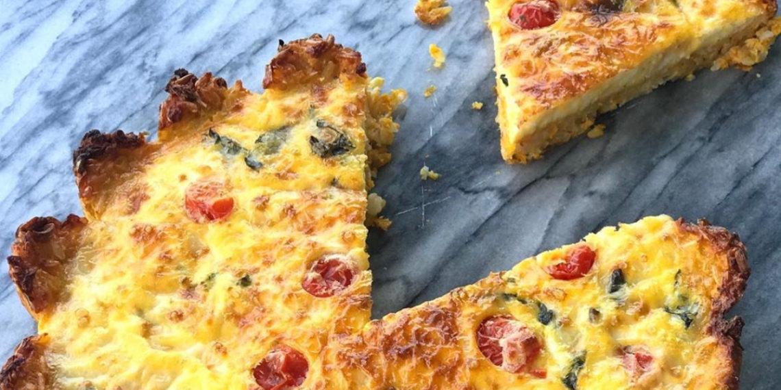 Quiche o tarta de queso con zanahoria y calabaza