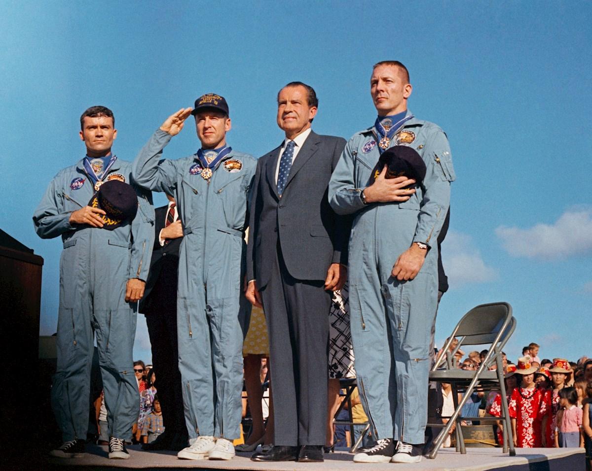 La misión Apolo 13 despegó, el 11 de abril de 1970. Foto: EFE