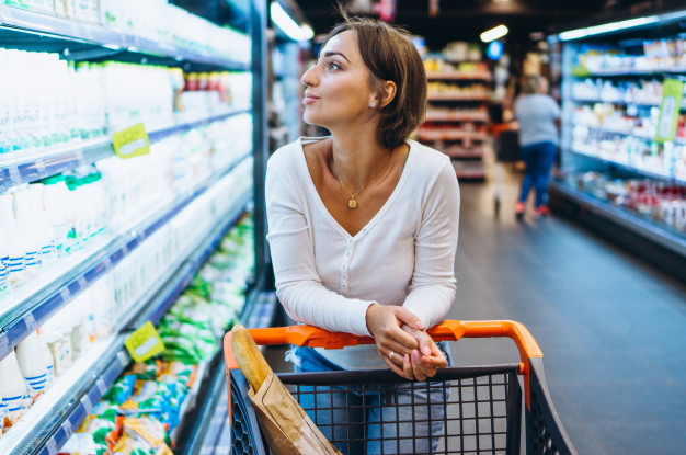 Carrito de supermercado contaminado