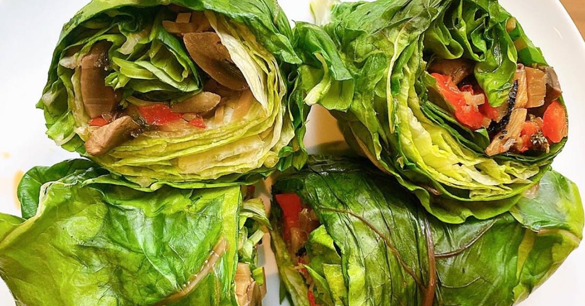 Wrap vegano para un almuerzo saludable o cena fit