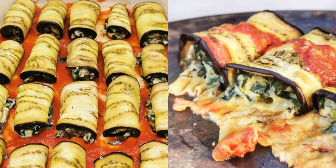 Berenjenas al horno para la cena o el almuerzo