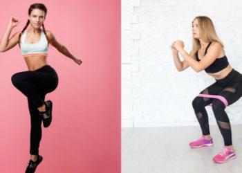 Hacer ejercicio con sentadillas y lunges