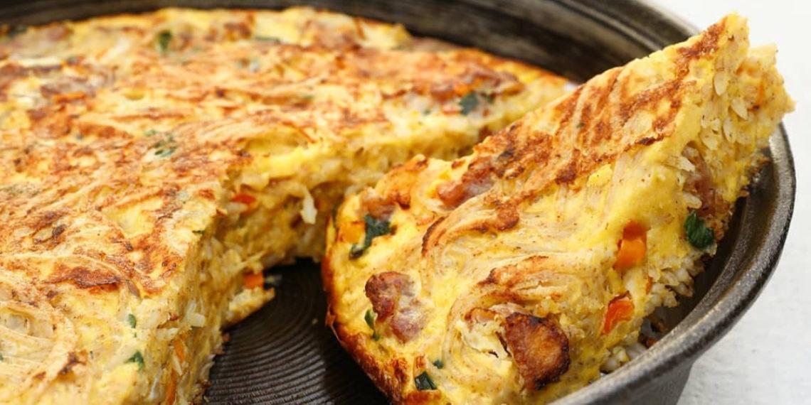 Tortilla o pastel de queso