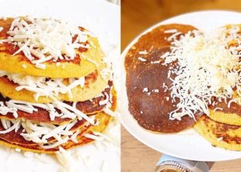 Receta de cachapas con queso mozzarella