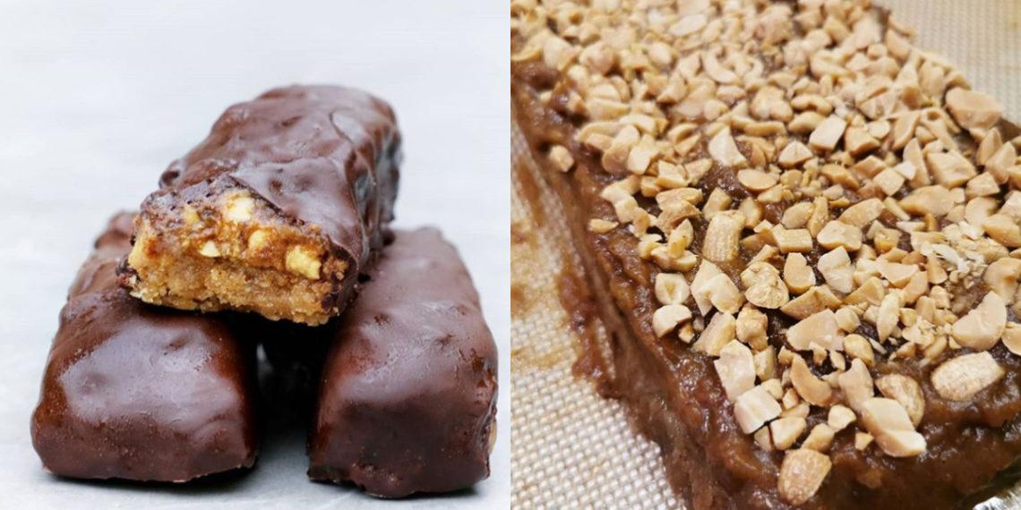 Receta de chocolate en barra con caramelo