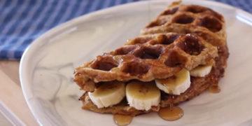 Receta de waffles con banana