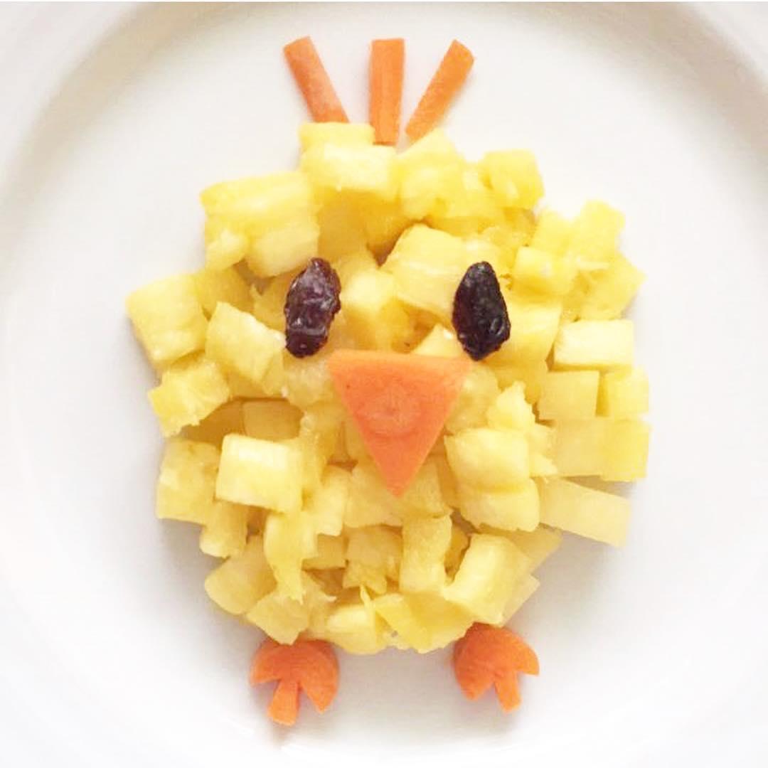 Comidas saludables: Pollito con trozos de piña