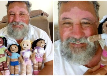 Abuelo crea muñecas para animar a niños