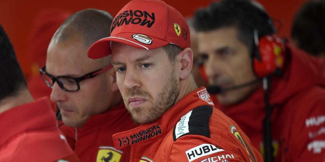 Se va Vettel del Ferrari y su futuro está en el aire