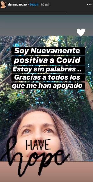Danna García da positivo a la COVID-19 por tercera vez