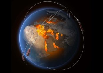 el campo magnético y el núcleo de la tierra