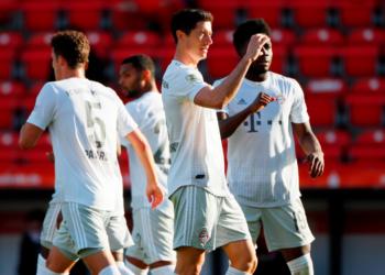 Gol de Lewandowski en el partido del Bayern Múnich