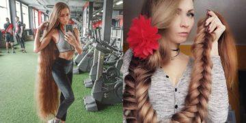 Joven rusa no corta su cabello desde 2007