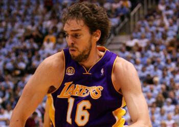 Paul Gasol y los Lakers fueron campeones en dos ocasiones