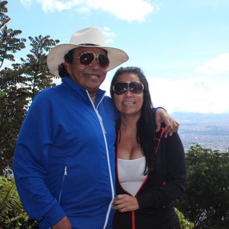 Diomedes Díaz y su esposa Consuelo