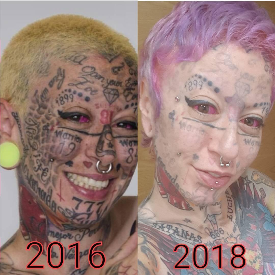 Mujer tatuajes