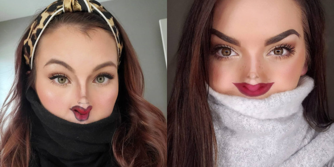 Tiny Face Makeup Challenge. Foto: Instagram: @stl_jess / @mckennafusselman