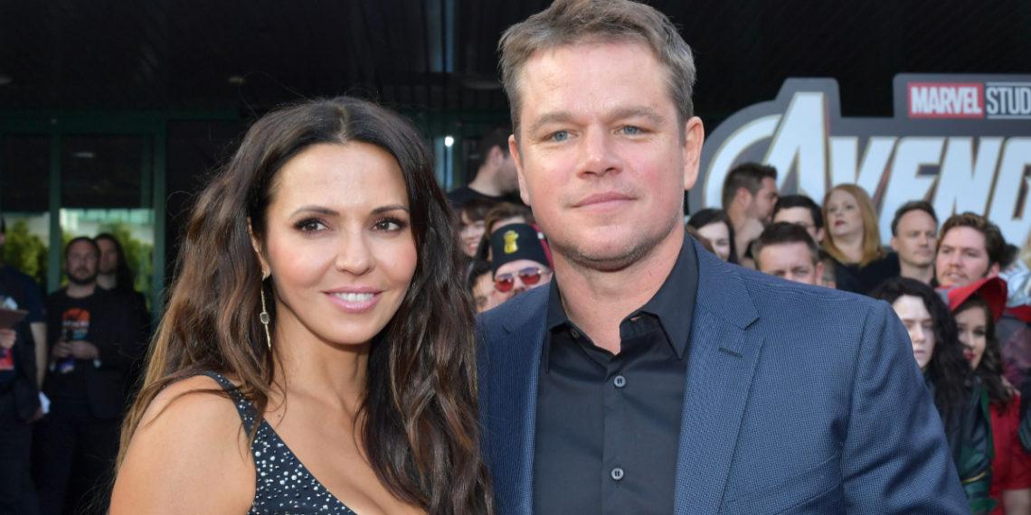 Matt Damon y su familia