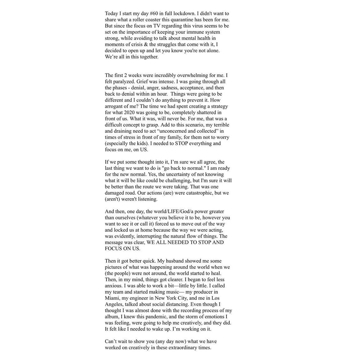 carta de Ricky Martin