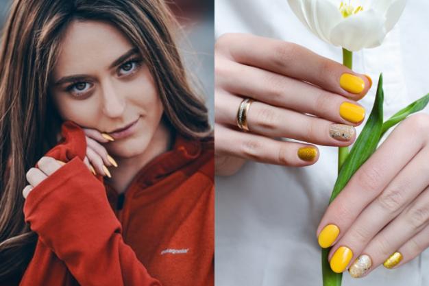 pintura amarilla para uñas