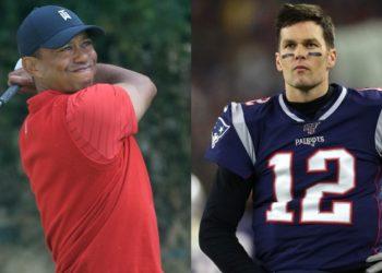 Tiger Woods y Tom Brady se miden en partido benéfico de golf