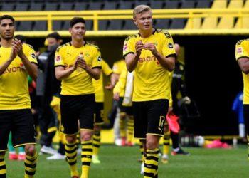 Dortmund golea en reinicio de la Bundesliga y se acerca al Bayern Múnich